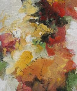 """Fall Flowers"", 6x18, price on request"