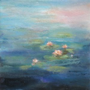 """Pond Lilies"", 12x12, price on request"