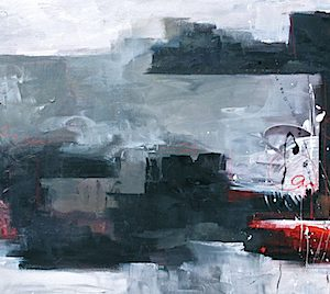 """Red Emerging"", 25x55, price on request"